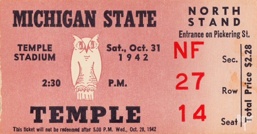 1942 Michigan State vs. Temple  Print