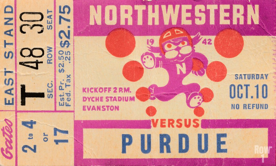 1942 Northwestern vs. Purdue  Print