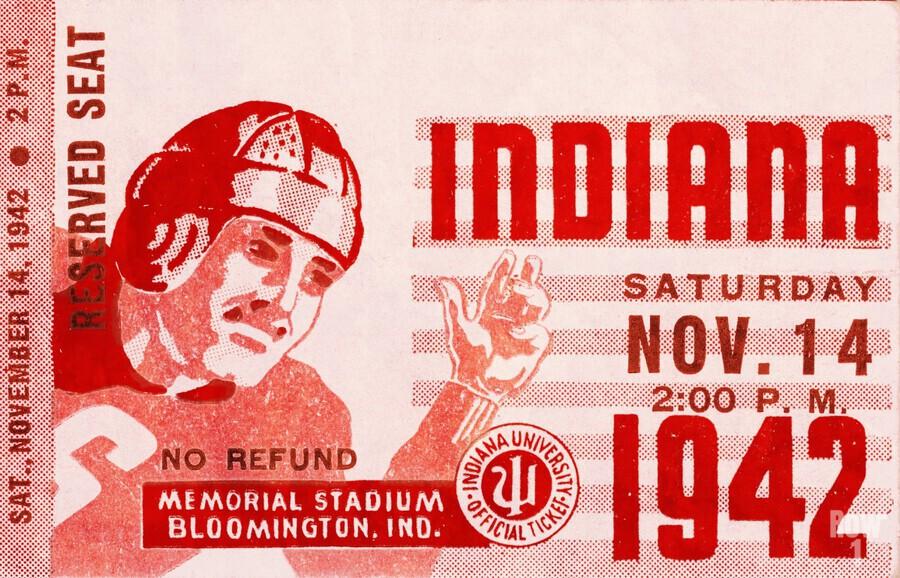 1942 Indiana Football Art  Print
