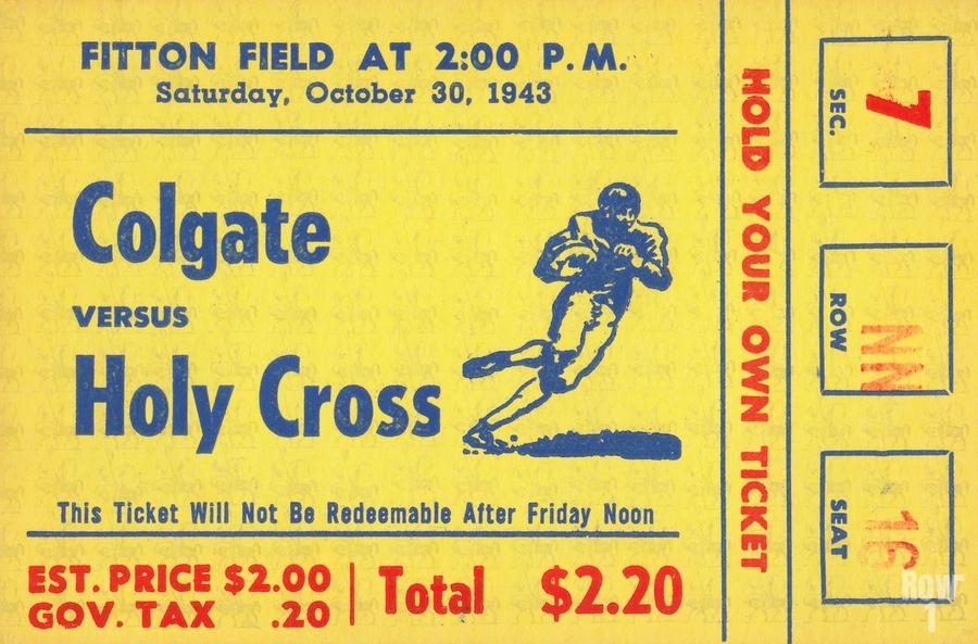 1943 Colgate vs. Holy Cross  Print