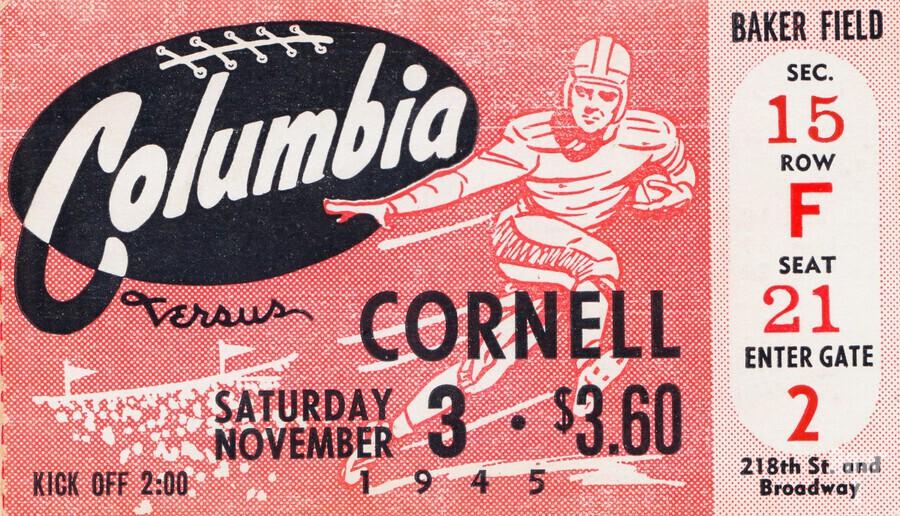 1945 Columbia vs. Cornell  Print