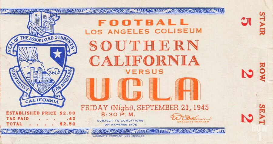 1945 USC vs. UCLA   Print