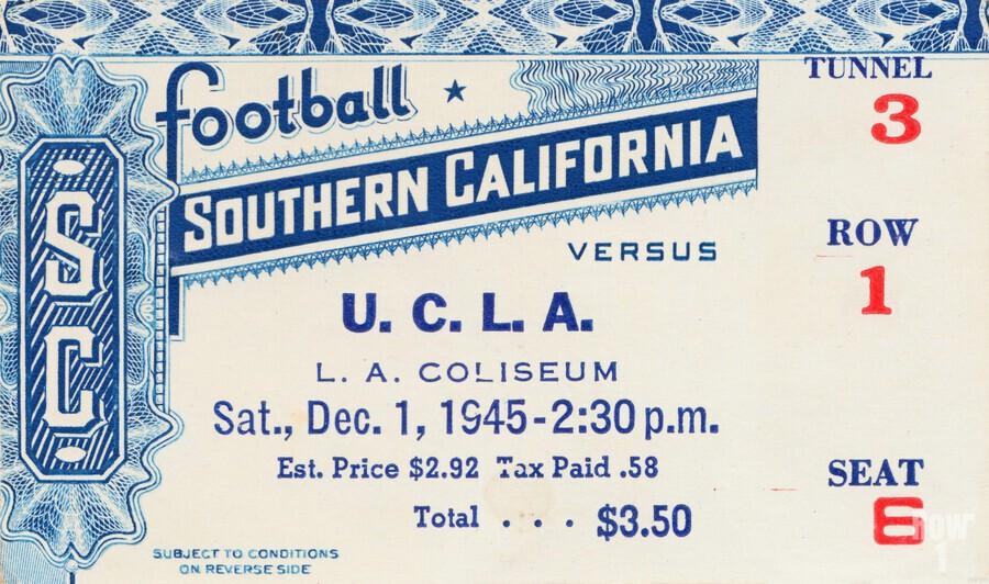 1945 USC vs. UCLA Game 2  Print