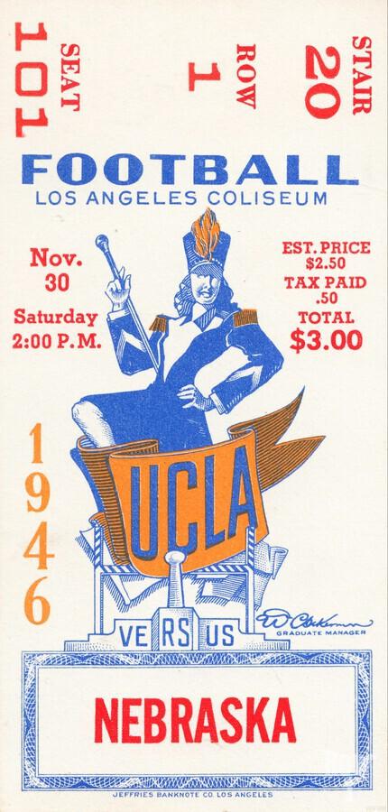 1946 UCLA vs. Nebraska  Print