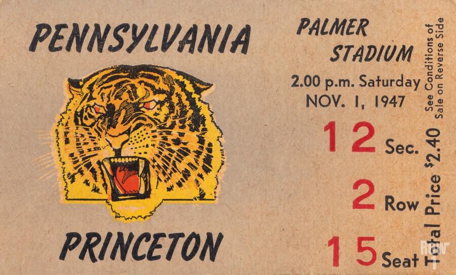 1947 Princeton vs. Penn  Print