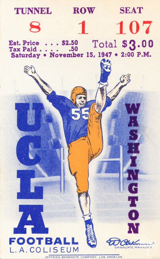 1947 UCLA vs. Washington  Print