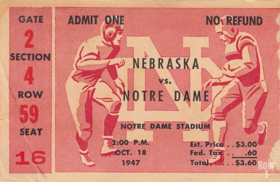 1947 Nebraska vs. Notre Dame  Print