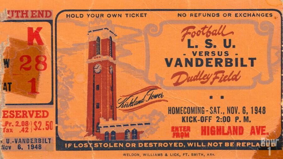 1948 LSU vs. Vanderbilt  Print