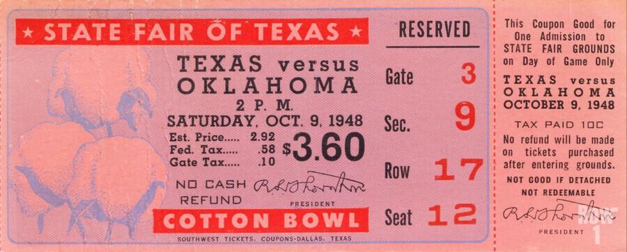 1948 Oklahoma vs. Texas  Print