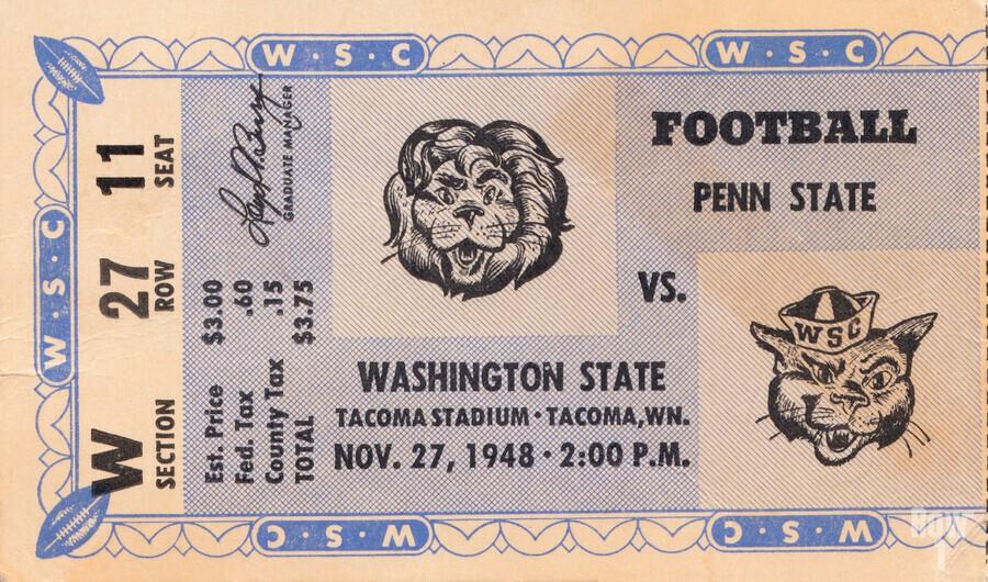 1948 Washington State vs. Penn State  Print