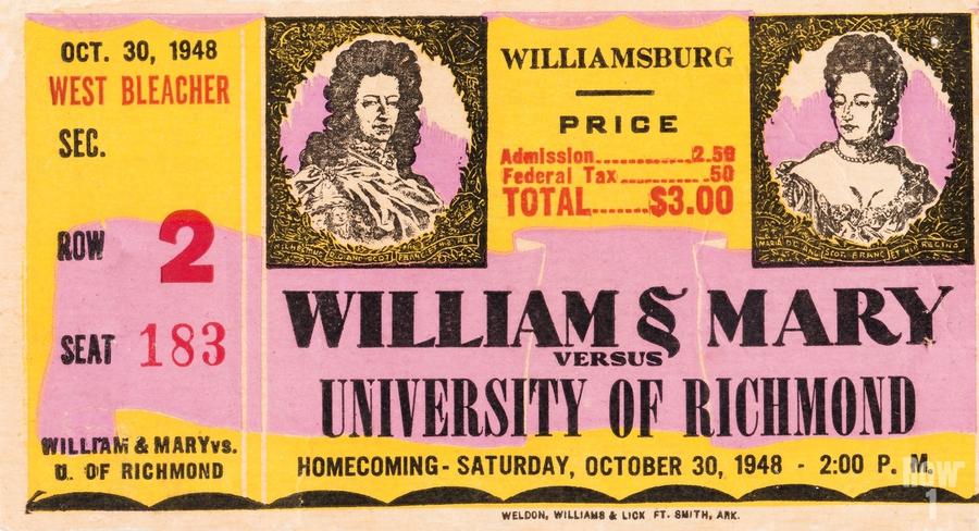 1948 William and Mary vs. Richmond  Print