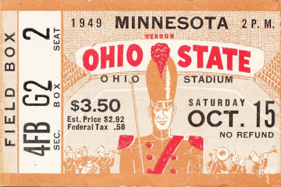 1949 Ohio State vs. Minnesota  Print