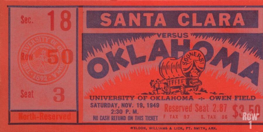 1949 oklahoma sooners bud wilkinson undefeated sooner team  Print