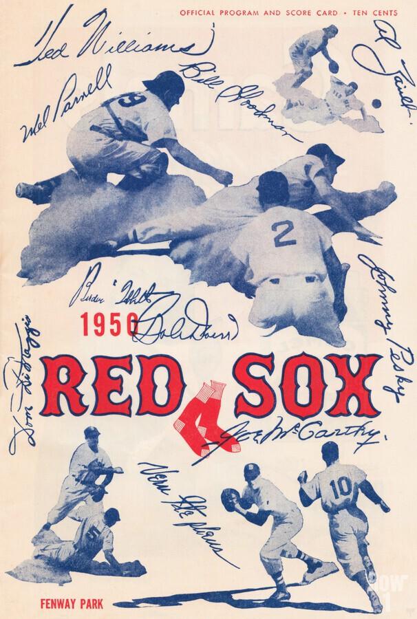 1950 Boston Red Sox Score Book Canvas Art  Print