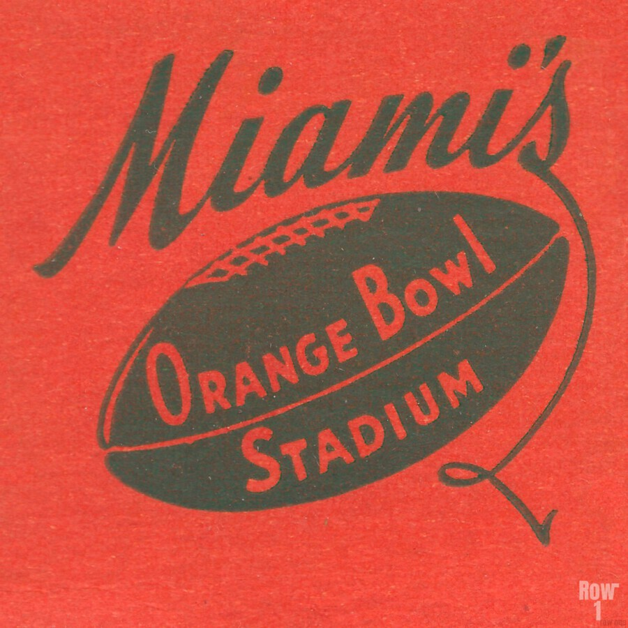 1950 Miami Orange Bowl  Print