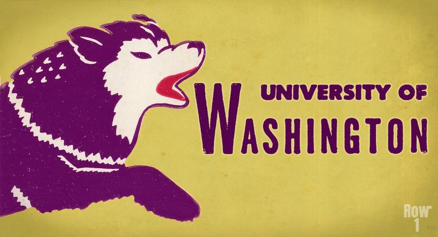 1950 Washington Husky Ticket Remix Art  Print