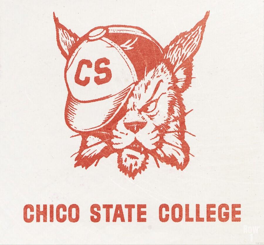 1950s Chico State College Wildcat Art  Print