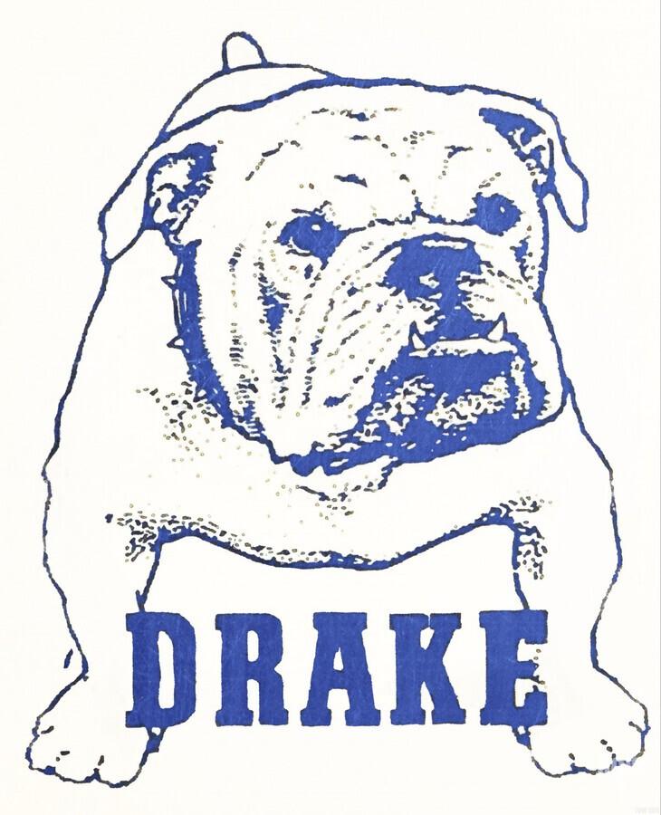1950s Drake Bulldog Art  Print