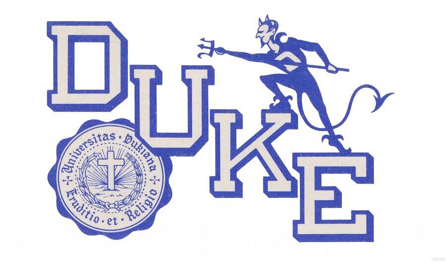 Vintage Duke University Art  Print