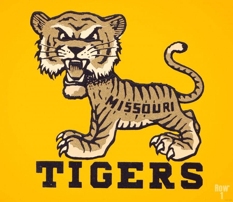 1950s Missouri Tigers Art Print  Print