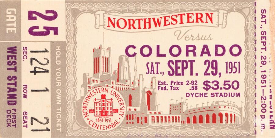 1951 Northwestern vs. Colorado  Print