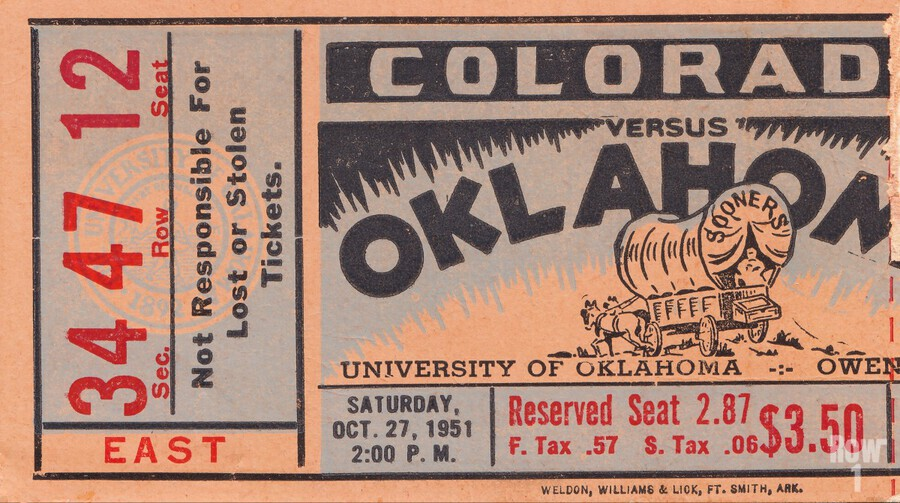 1951 Oklahoma vs. Colorado  Print