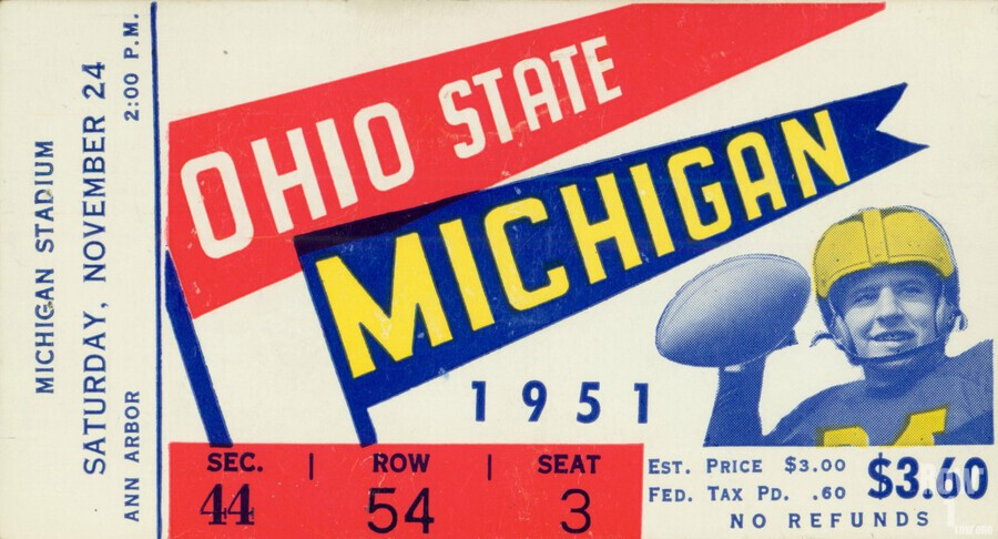 1951 Ohio State vs. Michigan  Print