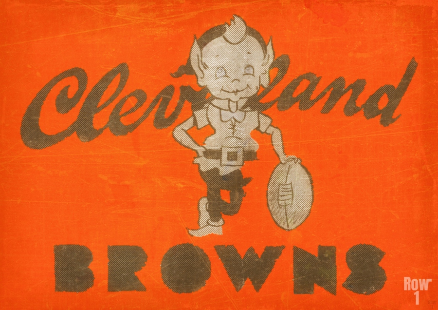 Vintage Cleveland Browns Wall Art  Print