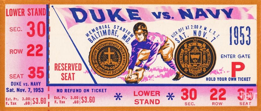1953 Duke vs. Navy   Print