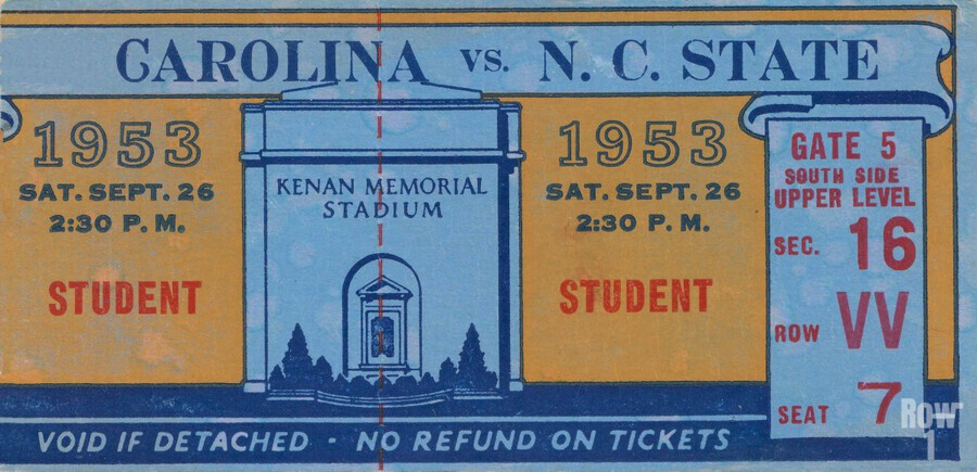 1953 North Carolina vs. NC State  Print
