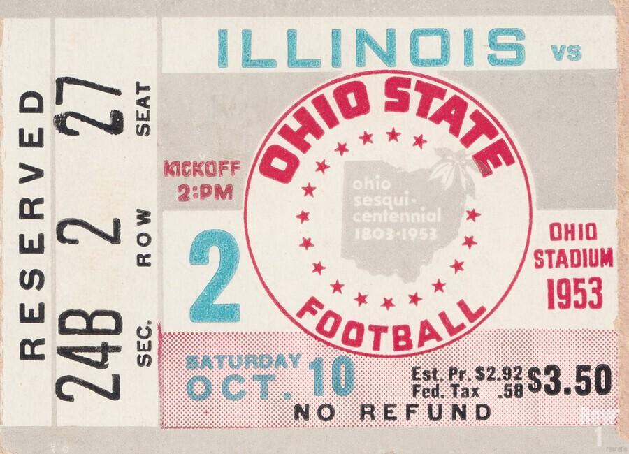 1953 Ohio State vs. Illinois  Print