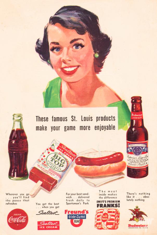 Vintage St. Louis Sportsman Park Concessions Ad  Print