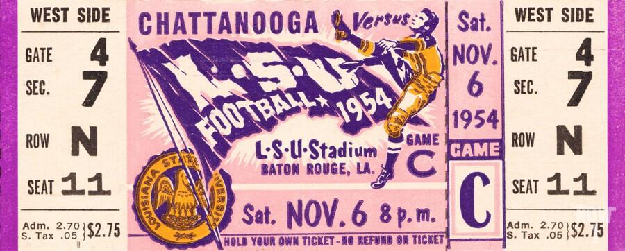 1954 lsu tigers football  Print