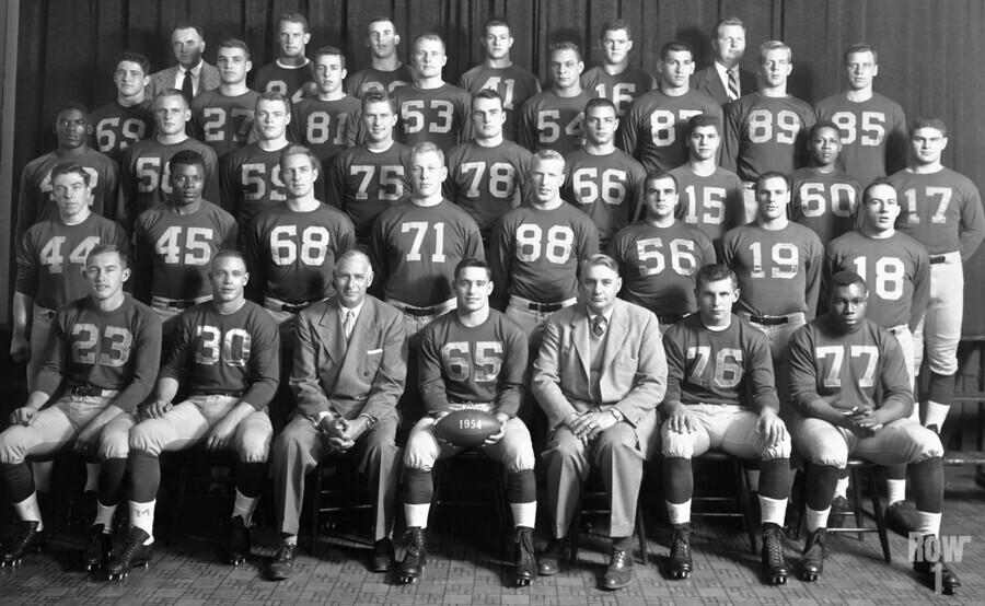 1954 University of Michigan Football Team Photo  Print