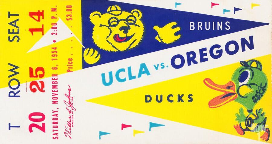 1954 UCLA vs. Oregon  Print