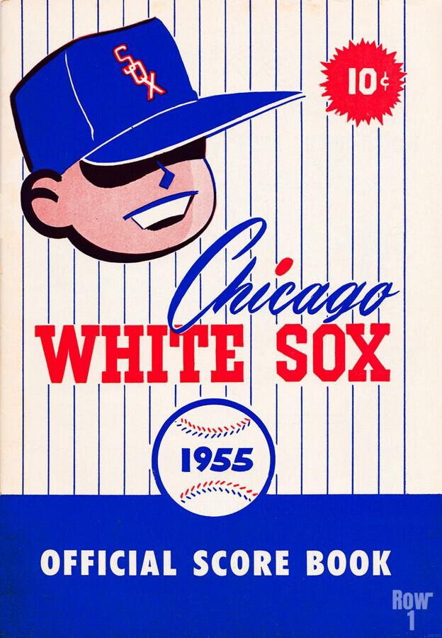 1955 chicago white sox mlb baseball score book poster  Print