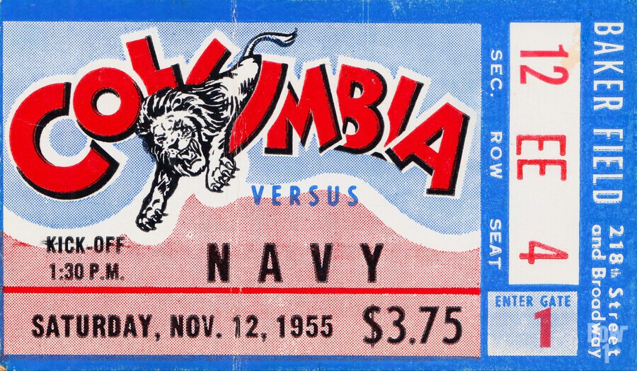1955 Columbia vs. Navy  Print