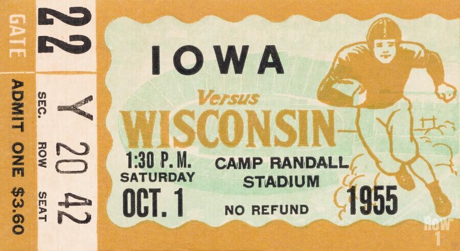 1955 Iowa Hawkeyes vs. Wisconsin Badgers  Print