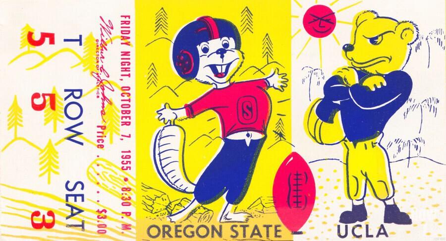 1955 Oregon State vs. UCLA  Print