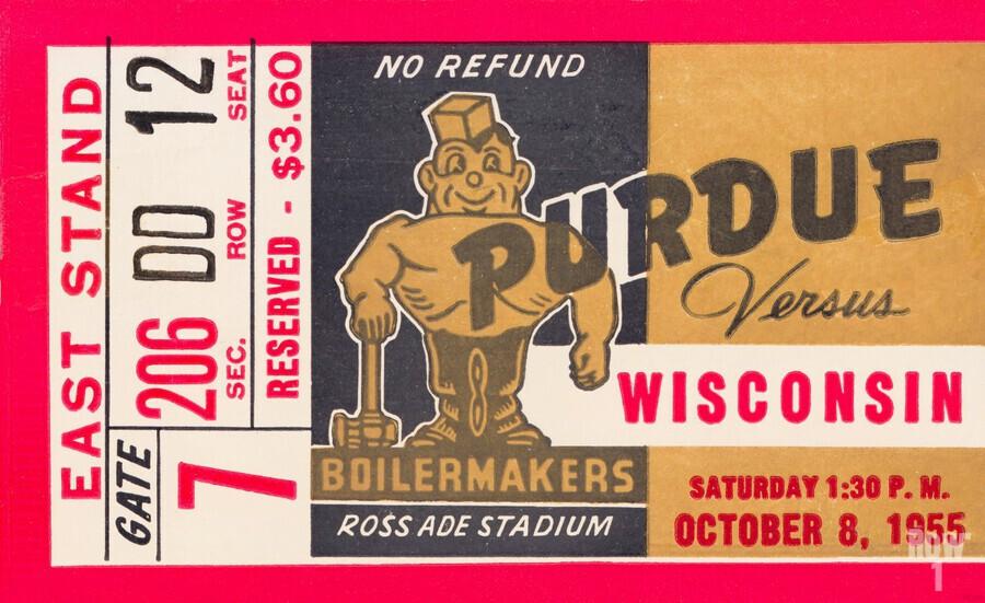 1955 Wisconsin vs. Purdue  Print