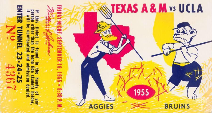 1955 UCLA vs. Texas  Print