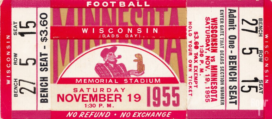 1955 Wisconsin vs. Minnesota  Print