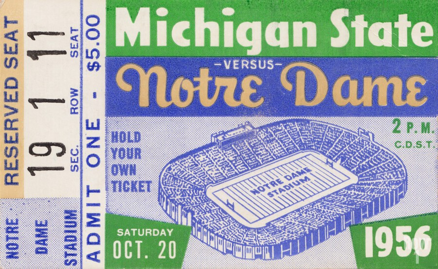 1956 Michigan State vs. Notre Dame  Print