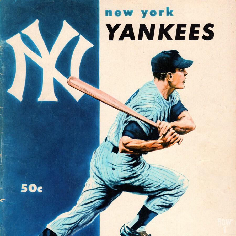 1956 New York Yankees Yearbook Wall Art  Print