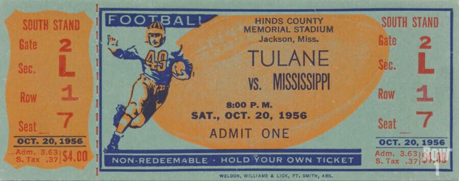 1956 Tulane vs. Ole Miss  Print