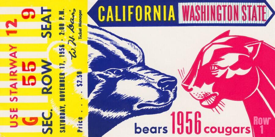 1956 Washington State Cougars vs. Cal Bears  Print