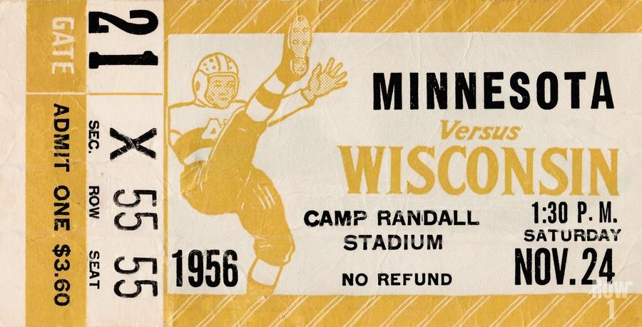 1956 Wisconsin Badgers vs. Minnesota Golden Gophers  Print