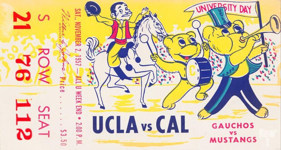 1957 UCLA vs. California   Print