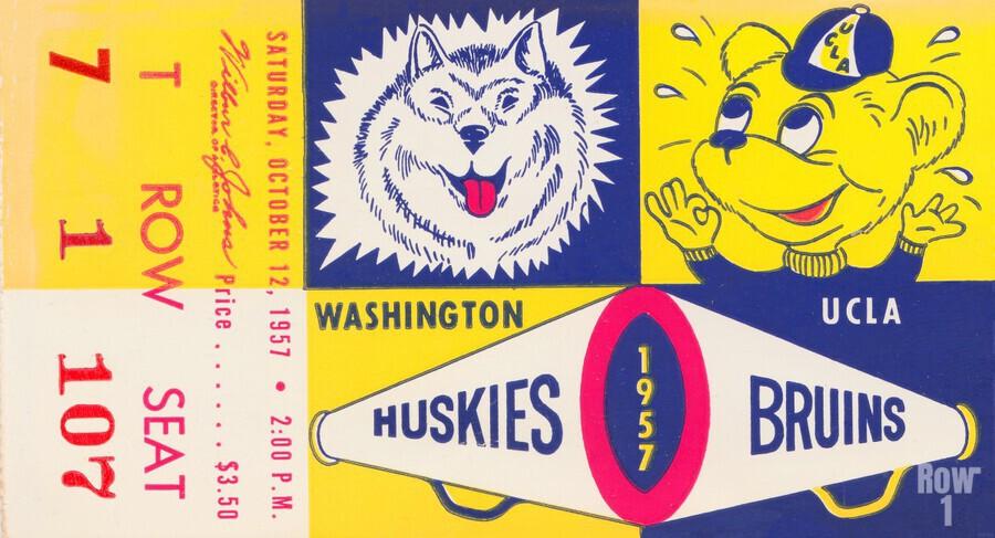 1957 UCLA vs. Washington  Print