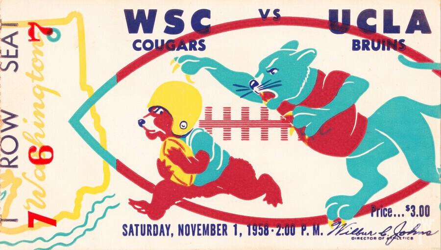 1958 UCLA vs. Washington State  Print